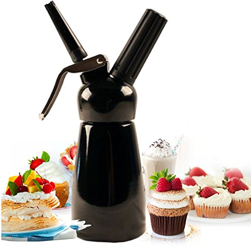 Mosa Bestwhip Whipped Cream Dispenser (Black, 250 ml)
