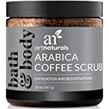 ArtNaturals Arabica Coffee Body Scrub (20 Oz / 567g) – Exfoliating Treatment for Varicose Veins, Cellulite, Stretch Marks Spider Vein - Deep Skin, Butt, legs and Face Sugar Exfoliator with Caffeine