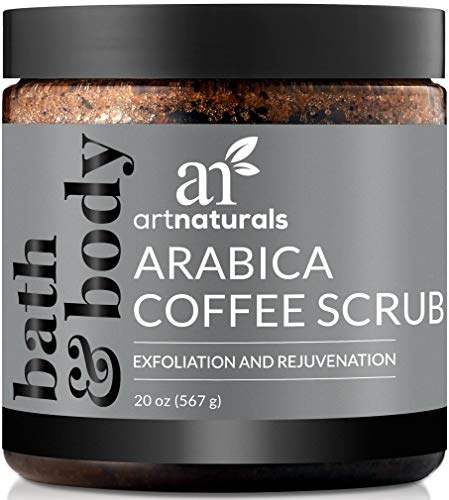 ArtNaturals Arabica Coffee Body Scrub (20 Oz / 567g) – Exfoliating Treatment for Varicose Veins, Cellulite, Stretch Marks Spider Vein - Deep Skin, Butt, legs and Face Sugar Exfoliator with Caffeine