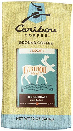 Caribou Coffee Blend Decaf Ground, 12-Ounce Bags (Pack of 2)
