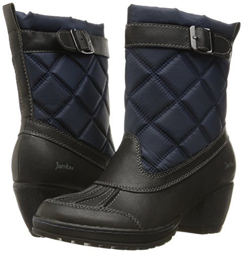 Schwarz Dover Jambu Marineblau Zeh Fashion Runder Stiefel Frauen Vegan nzHxq8HPOw