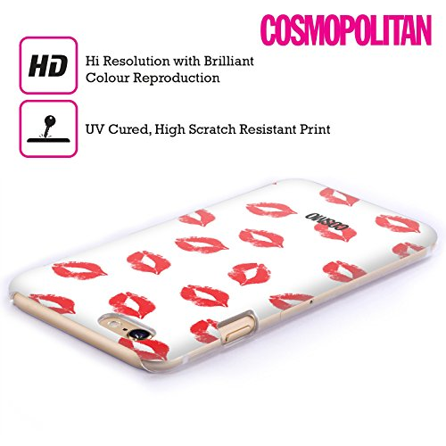 Official Cosmopolitan White Kiss Mark Hard Back Case for Apple iPhone 5 / 5s / SE