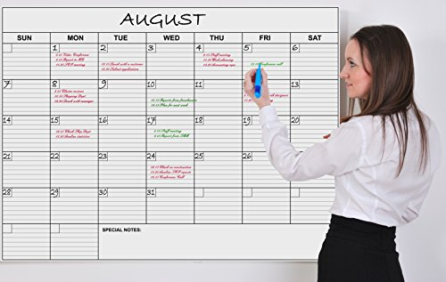 Jumbo Wall Calendar Laminated 36 X 48in Month Planner for