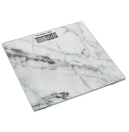 NWYJR Báscula de baño de peso ultra delgada 6 mm de vidrio templado Accuweight de alta