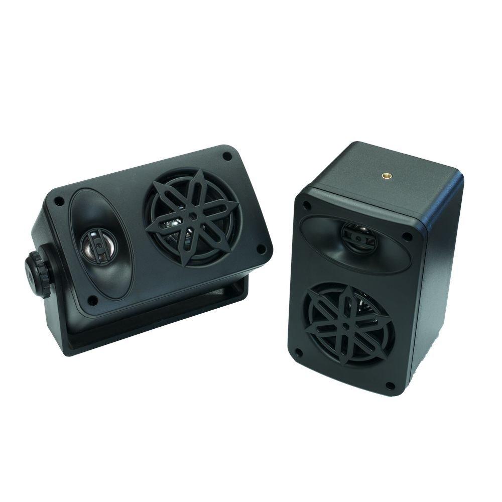 Bassface SPLBOX.4BK 200w Marine Boat Van Outdoor Box Speakers Pair Black