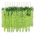 UArtlines-24-Pack-36-FeetPiece-Artificial-Fake-Wisteria-Vine-Ratta-Hanging-Garland-Silk-Flowers-String-Home-Party-Wedding-Decor-Extra-Long-and-Thick-24-Green