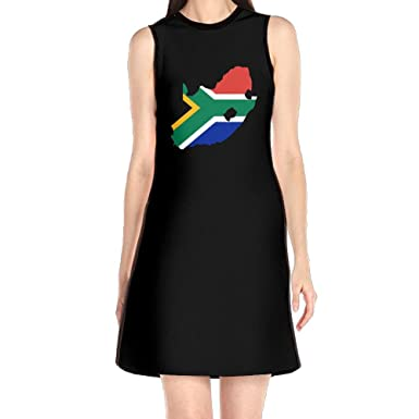 Floral Dress Summer Dresses, South Africa Flag Map Black Vintage Mini Sexy Dresses for Womens at Amazon Womens Clothing store: