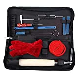 Lovebay® Professional A Pack of 10 Pieces Piano Tuner Tools Including Tuning Hammer Mute Wrench Hammer Handle Kit Tools and Case