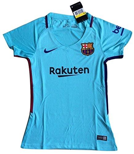 Nike Women's FC Barcelona 2017-2018 Away Soccer Jersey Polarized Blue – DiZiSports Store