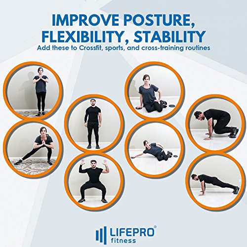 LifePro Core Exercise Sliders Gliding Discs - Fitness Equipment for Low Impact, Full Body and Ab Workout - Dual Sided Slides on Any Floor - Free Manual, Personal Training Home Videos & Storage Bag by LifePro (Image #4)