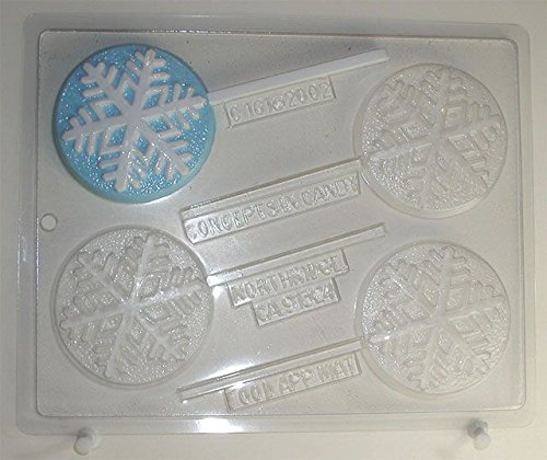 Snowflake Lollipops - Chocolate Candy Mold - C161