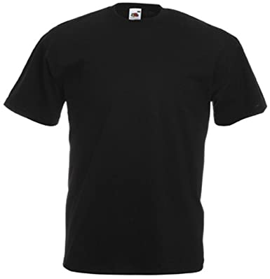 1cb1ff83 Black T-Shirt Plain Tee Apparel Clothing for him or her: Amazon.co.uk:  Clothing