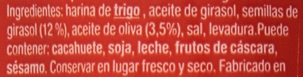 Alba - Rosquilletas con pipas - Palitos de pan con semillas de girasol - 70 g: Amazon.es: Alimentación y bebidas