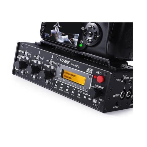 Fostex DC-R302 Professional 3-Channel Portable Audio Mixer/Stereo Recorder