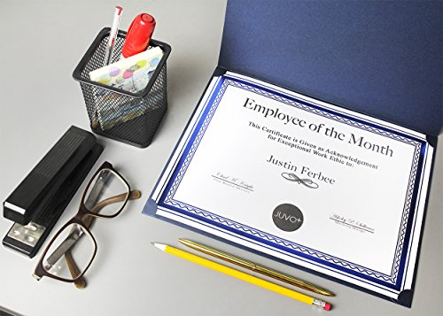 12-Pack Certificate Holder - Diploma Cover, Document Cover for Letter-Sized Award Certificates, Blue, 11.2 x 8.7 inches by Best Paper Greetings (Image #6)
