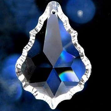 H & D 5 x klar Kristall Maple Leaf Form Kronleuchter Prismen ...