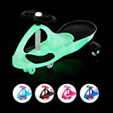 EIGHTBIT Swivel Car Rolling Ride On Car - Indoor / Outdoor - Thunder Bolt GLOW IN THE DARK Car with LIGHT UP Wheels