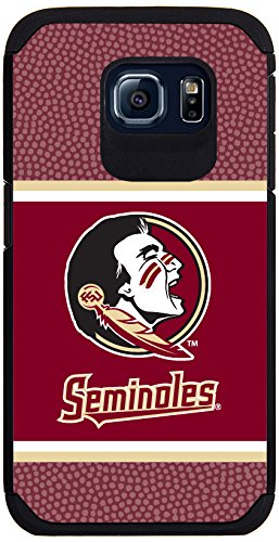Florida State Seminoles Team Color Football Pebble Grain Feel Samsung Galaxy S6 Case,One Size,Red
