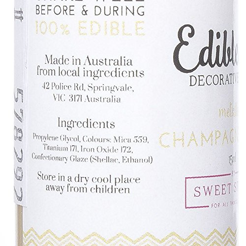 Edible Art Decorative Paint Champagne Gold 15ml by Yolli (Image #2)