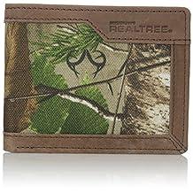 RealTree Men's Leather Canvas Billfold Wallet