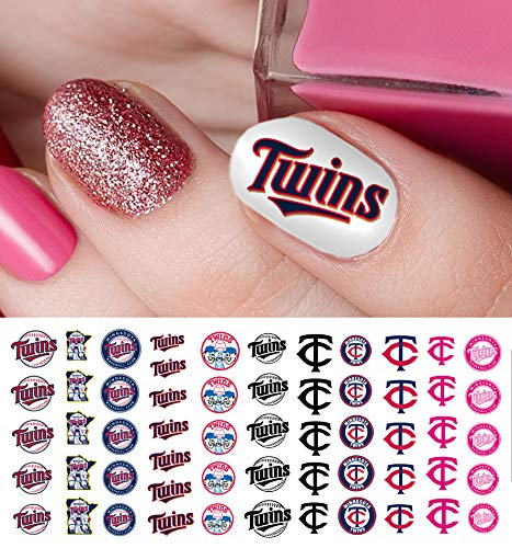 (Minnesota Twins Baseball Waterslide Nail Art Decals - Salon Quality)