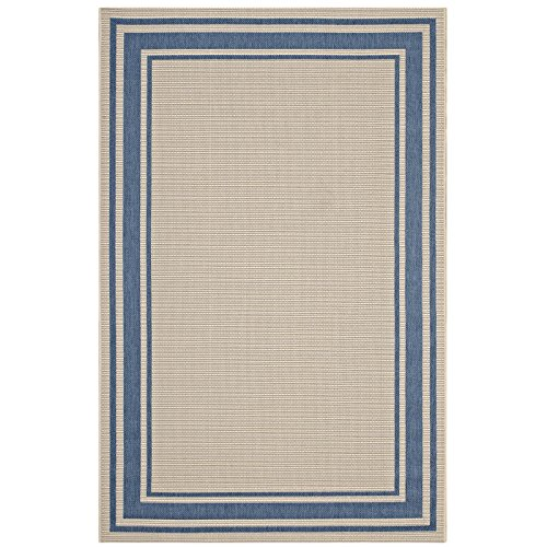 Modway R-1140C-58 Indoor and Outdoor Area Rug 5x8 Blue and Beige