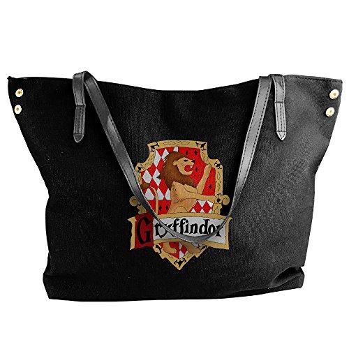 [Harry Potter Hogwarts Crest Women Canvas Handle Single Shoulder Bag/Handbag] (Hermione Granger Costume Casual)