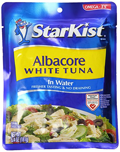 Gourmet Food : StarKist White Albacore Tuna Pouch in Water, 6.4 Ounce (Pack of 1)