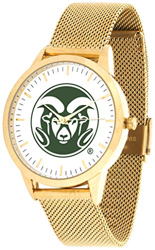 (Colorado State Rams - Mesh Statement Watch - Gold Band)