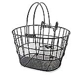 Colorbasket 02270 Mesh Bottom Lift-Off Bike Basket, with Handles, Powder Coated Steel