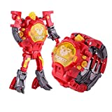 Transformer watch Robot watch Toy Converts into Electronic Digital Watch, Robowatch for Robofans (Red)