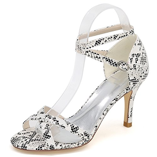 5cm White Solida Scarpe PU Autunno Heel Archi Platform Donna Sposa Sera Elobaby da da in Lady da Fibbia Fashion 8 pxHq11TR
