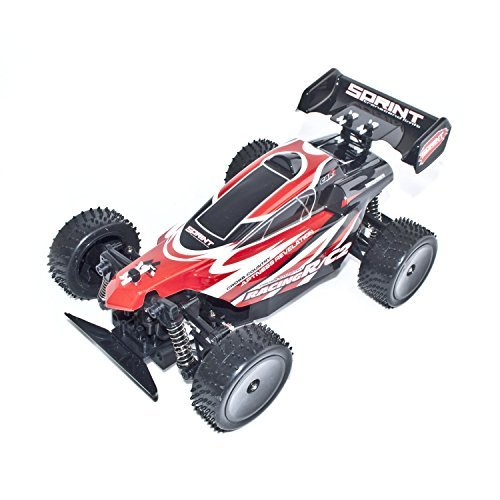 16 Nitro Powered Buggy (ALEKO 06081 4 Wheel Drive RC Electric Power Off Road Buggy, Red 1/16 Scale)