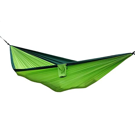 Portable Nylon Double Person Outdoor Hammock Parachute Fabric Hammock For Travel Hiking Backpacking Camping Hammocks Outdoor Furniture