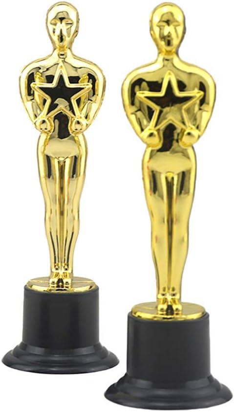 Toyvian Trofeo de Oro de plástico Premios de trofeos Premios a la Ceremonia de Celebraciones Premios Deportivos 6 Piezas: Amazon.es: Juguetes y juegos