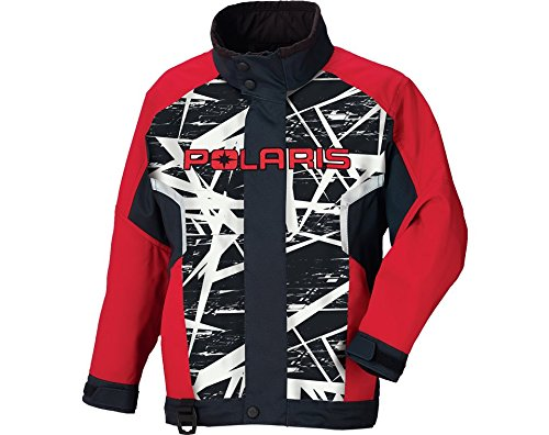 Polaris Youth Red Cracked Ripper Jacket- Xsmall