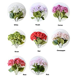 Youngman 5 Heads Hydrangea Beautiful Artificial Flower Bunch Bouquet Home Wedding Decor 37