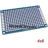 AnandCircuits PCB (FR4) Double Side Copper (Set of 3) (4 x 6 cm 40 x 60 mm) General Purpose Printed Circuit Board, Breadboard DIY