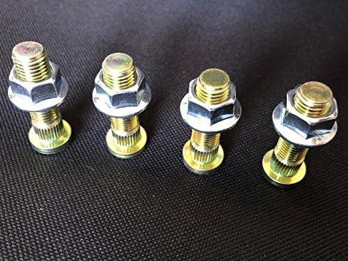 Honda TRX 450 400 250 Foreman Rancher Fourtrax HD ATV - Tornillos para rueda con tuercas de brida 100% fabricadas en EE. UU.