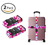 SWEET TANG Long Cross Luggage Straps Suitcase Belts Hawaiian Party Flower Print