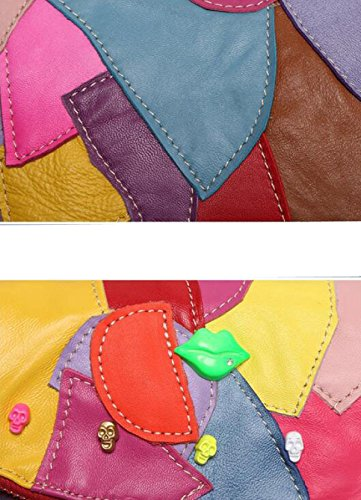 La Sra Hombro Del Mosaico De La Moda Retro Bolsa De Mensajero Color