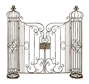 Elegant Deco 79 63270 Metal Garden Gate, 62 By 67 Inch