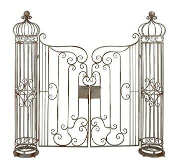 Deco 79 63270 Metal Garden Gate, 62 By 67 Inch