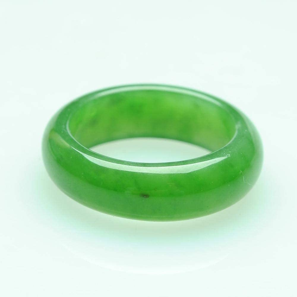 Myzixuan Natural and Nephrite Rings Mens and Womens Ring Finger Jade Ring