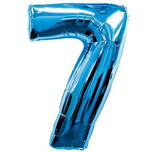 Anagram 28291 Number 7 Blue Foil Balloon 34