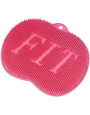 Depurador de pies de ducha, limpiador de pies con ventosas antideslizantes, tapete de masaje, mejora la circulación, exfoliación, tapete de masaje de acupresión, limpiador de pies y reduce el dolor de