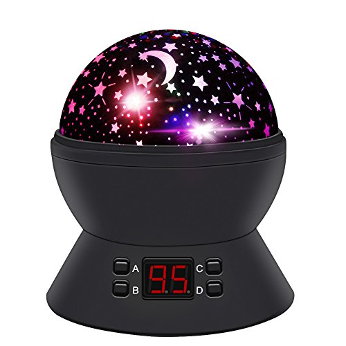 (ANTEQI Star Sky Night Lamp,Baby Lights 360 Degree Romantic Room Rotating Cosmos Star Projector with LED Timer Auto-Shut Off,USB Cable for Kid Bedroom,Christmas Gift)