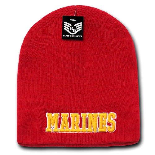 Classic Logo Beanie - Military Logo Classic Work Short Winter Beanie Skull Caps S90 Marines Text