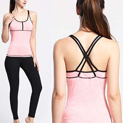 Zhhlinyuan Womens Sleeveless Breathable Vest Deportes Quick Dry Tank Tops LWQ-0104 Pink
