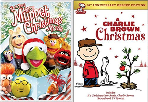 Great Kids Christmas Classics with A Charlie Brown Christmas (50th Anniversary Deluxe Edition) & It's a Very Merry Muppet Christmas Movie 2-DVD Bundle -